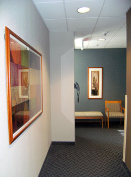 Lehigh Valley Diagnostic Imaging CT Suite Fit-out Corridor to patient prep