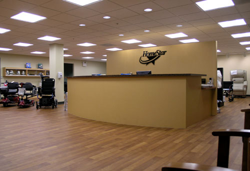 Homestar Retail & Office Fit-out Retail reception desk