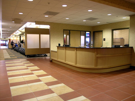 St. Lukes Health & Fitness Center Fit-out Reception