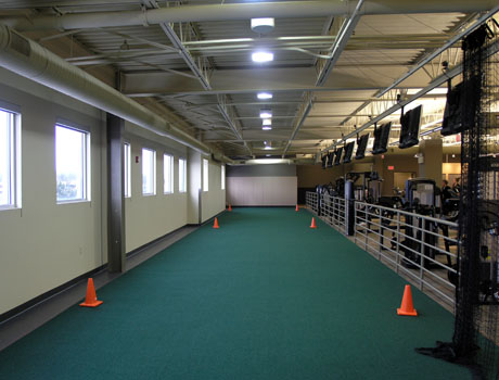 St. Lukes Health & Fitness Center Fit-out Sprinting track